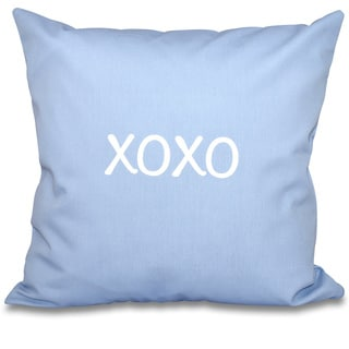 XOXO Word Print 20-inch Throw Pillow