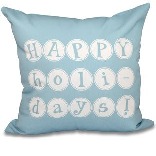 Happy Holidays Word Print 20-inch Throw Pillow