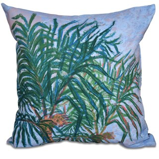 Palms Floral Print 18-inch Throw Pillow