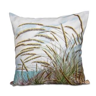 Ocean Breeze Floral Print 18-inch Throw Pillow