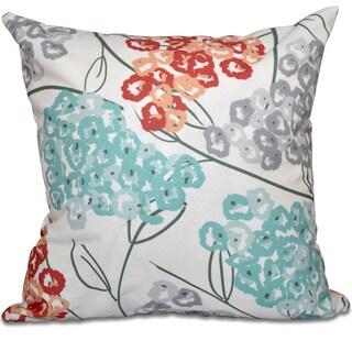 Hydrangeas Floral Print 18-inch Throw Pillow