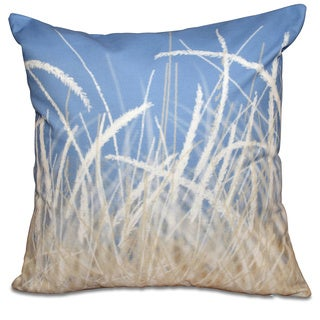 Sea Grass 1 Floral Print 18-inch Throw Pillow