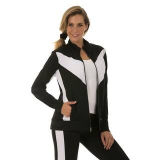 Instantfigure Women's Compression Zip Up Jacket|https://ak1.ostkcdn.com/images/products/11483167/P18437587.jpg?impolicy=medium