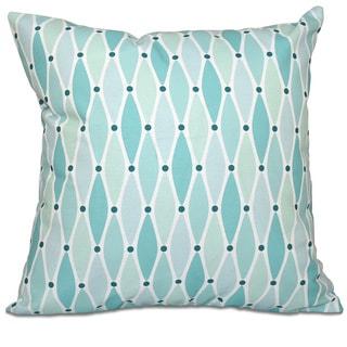 Wavy Geometric Print 18-inch Throw Pillow
