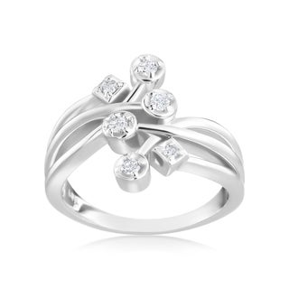 Andrew Charles 14k White Gold 1/6ct TDW Diamond Fashion Ring (H-I, SI1-SI2)