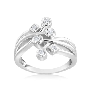 Andrew Charles 14k White Gold 1/6ct TDW Diamond Fashion Ring