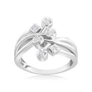 Andrew Charles 14k White Gold 1/6ct TDW Diamond Fashion Ring