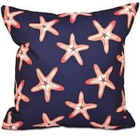 Soft Starfish Geometric Print 18-inch Throw Pillow