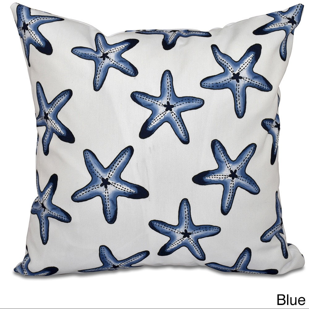 Shop Soft Starfish White Geometric Print 18-inch Throw Pillow - 11483190