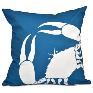 Crab Dip Animal Print 18-inch Throw Pillow