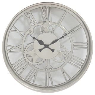 Industrial Aluminum 14-inch Round Wall Clock