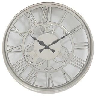 Industrial Aluminum 14-inch Round Wall Clock