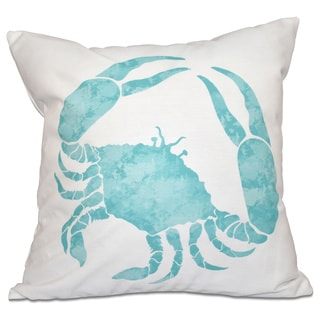 Crab Animal Print 18-inch Throw Pillow