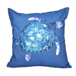 Sea Turtle Animal Print 18-inch Throw Pillow