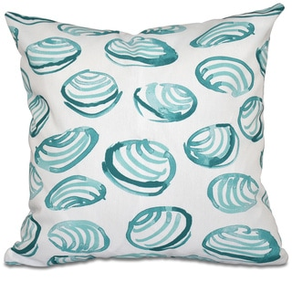 Clams Geometric Print 18-inch Throw Pillow