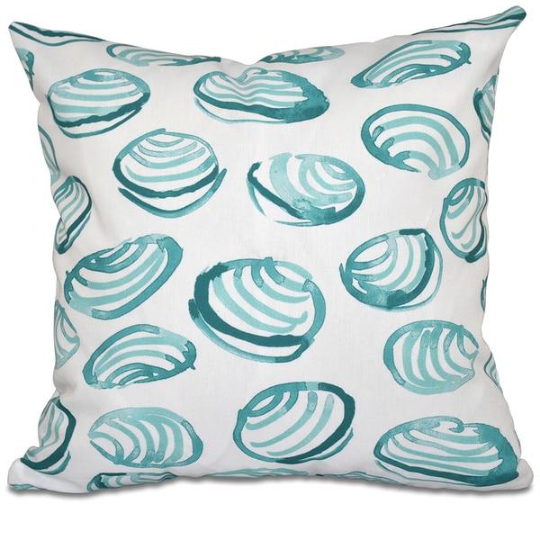 Clams Geometric Print 18-inch Throw Pillow