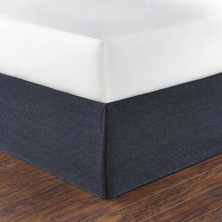 Poppy and Fritz Denim Blue 15-inch Drop Bedskirt