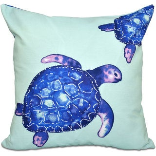 Turtle Tales Animal Print 18-inch Throw Pillow