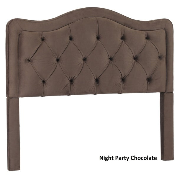 Allure Button Tufted Queen Upholstered Headboard