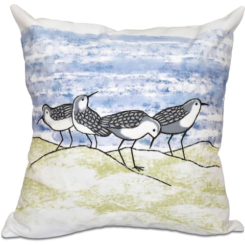 Sandpipers Animal Print 18-inch Throw Pillow