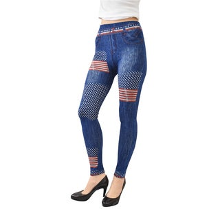 Le Nom Women's Print Jeggings (One Size Fits Most)