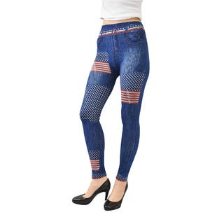 Le Nom Women's Print Jeggings (One Size Fits Most)|https://ak1.ostkcdn.com/images/products/11483253/P18437641.jpg?impolicy=medium