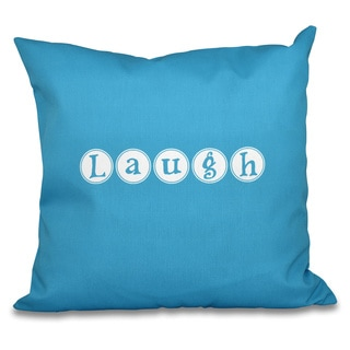 Laugh Word Print 18-inch Throw Pillow