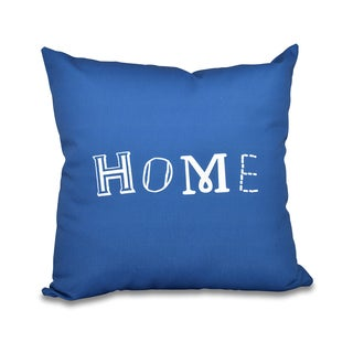 Home Word Print 18-inch Throw Pillow