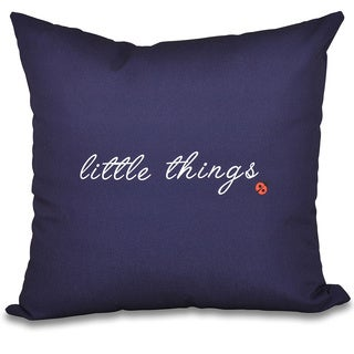 Little Things Word Print 18-inch Throw Pillow