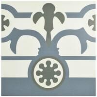 SomerTile 9.75x9.75-inch Hidraulic Ducados Cenefa Porcelain Floor and Wall Tile (16 tiles/10.76 sqft.)