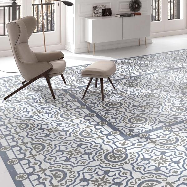 Somertile hidraulic ducados angulo porcelain for 16 inch floor tile