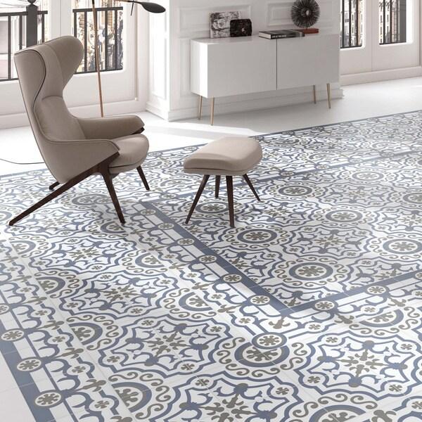 Somertile hidraulic ducados porcelain floor for 16 inch floor tiles