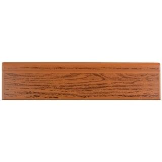 SomerTile 3.25x12.375-inch Zocalo Satin Oak Wood Ceramic Base Trim Molding (Case of 24)