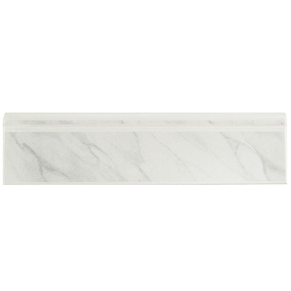 Shop SomerTile 3 25x12 375-inch Zocalo Satin White Marble Ceramic