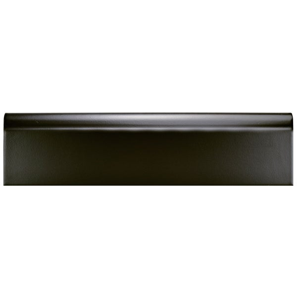 Somertile 3 25x12 375 Inch Zocalo Matte Black Ceramic Base Trim Molding 25