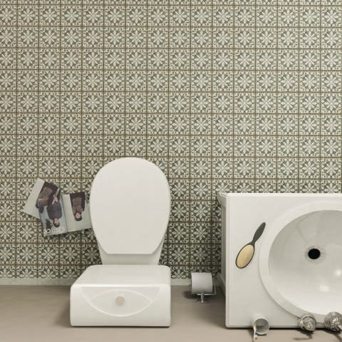 SomerTile 4.88x4.88-inch Chronicle Zahra Ceramic Floor and Wall Tile (32 tiles/5.84 sqft.)