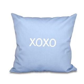 XOXO Word Print 18-inch Throw Pillow