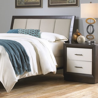 Fashion Bed Group Mouse Upholstery Espresso Finish Wood Frame Monterey Headboard