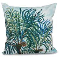 Palms Floral Print 16-inch Throw Pillow