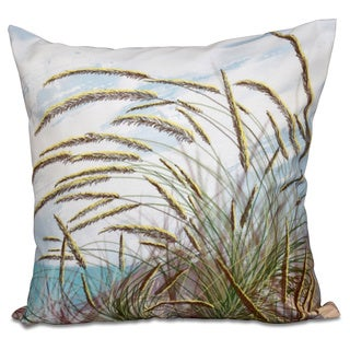 Ocean Breeze Floral Print 16-inch Throw Pillow