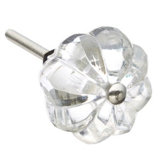 Umbrella Clear Glass Drawer/ Door/ Cabinet Knob (Pack of 6)