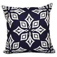 Beach Star Geometric Print 16-inch Throw Pillow