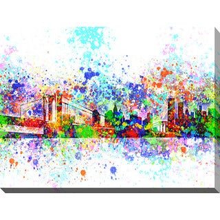 Bekim Mehovic 'New York Skyline Splats II' Giclee Print Canvas Wall Art