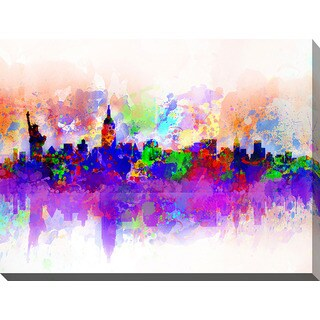 Bekim Mehovic 'New York Skyline Splats III' Giclee Print Canvas Wall Art