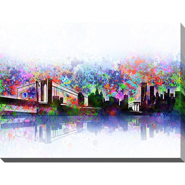Bekim Mehovic 'New York Skyline Splats' Giclee Print Canvas Wall Art