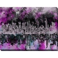 Bekim Mehovic 'Nyc Skyline Brush Strokes' Giclee Print Canvas Wall Art
