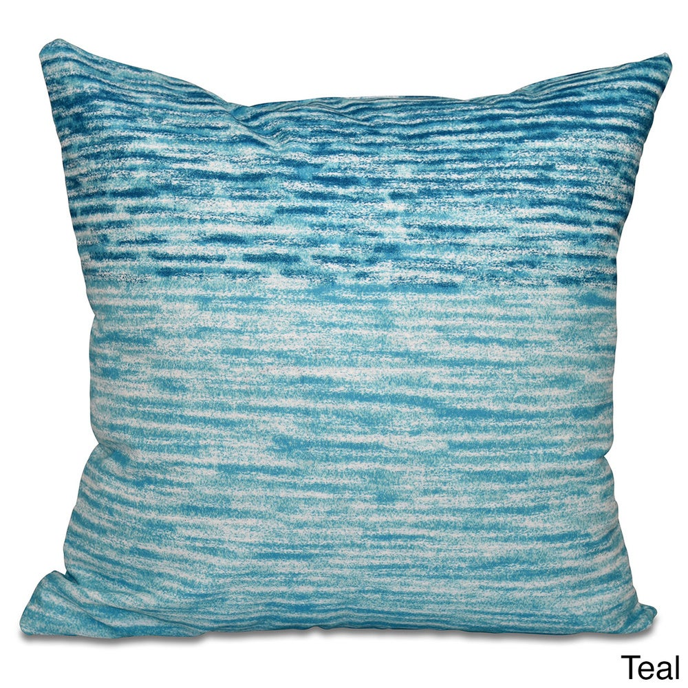 Shop Ocean View Geometric Print 16-inch Throw Pillow - 11483473