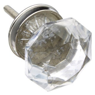 Radiant Cut Clear Glass Drawer/ Door/ Cabinet Knob (Pack of 6)
