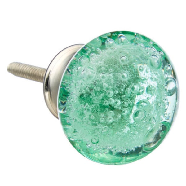 Bubble Glass Kitchen Cabinet Doors: Shop Green Bubbles Glass Drawer/ Door/ Cabinet Knob (Pack