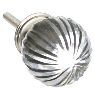 Clear Round Glass Drawer/ Door/ Cabinet Knob (Pack of 6)